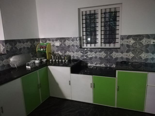 This kitchen can be used for  gusts, families and ladies are staying our Homestay