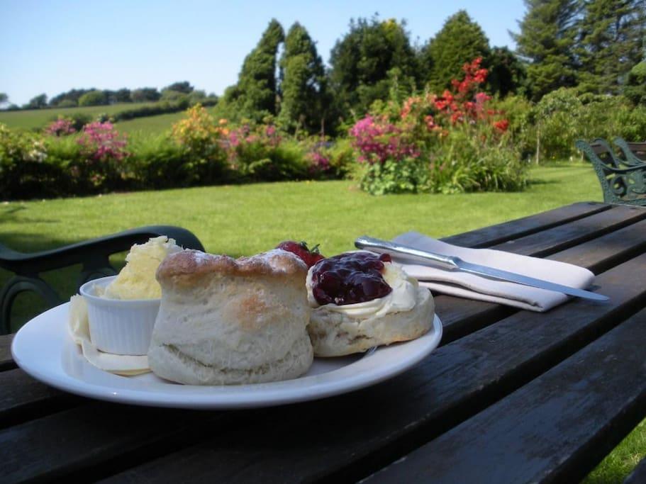 Enjoy a cream tea in the grounds.