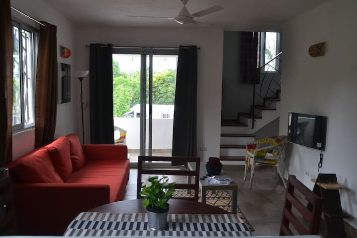 Duplex apartment 110 m2 , secured residence