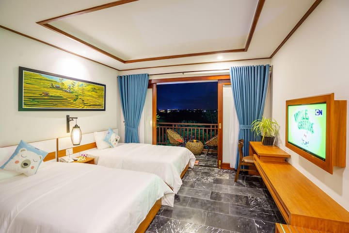 CIC Boutique hoi an villa-Twin room with balcony