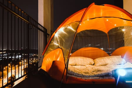 Balcony INDOOR CAMPING with NETFLIX @ TAMARIND SQ