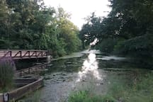 Take a walk between the canal and river in Raritan