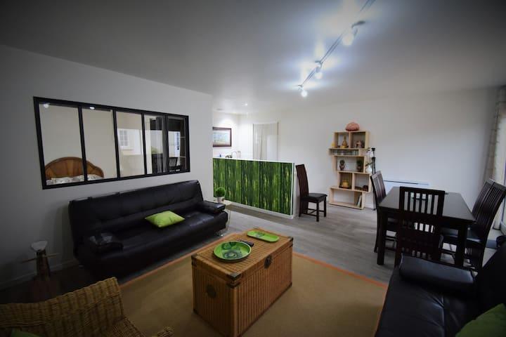 Appartement 1 à 6 personnes proche ttes commodités - Saint-Benoît - Apartment