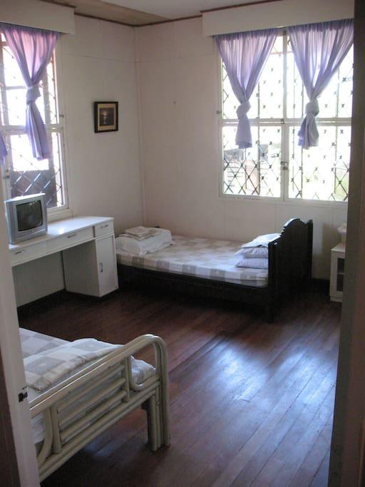 2nd floor room with shared bathroom