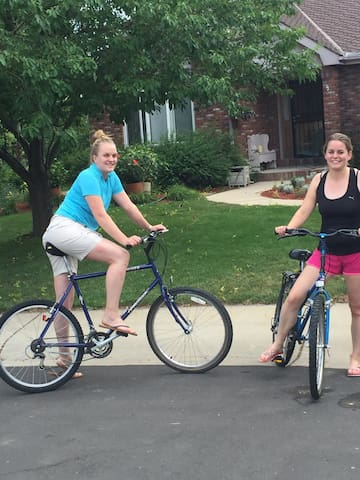 "Guests from Holland checked out the two bikes and enjoyed a two wheel visit to ""Old Town Fort Collins""."
