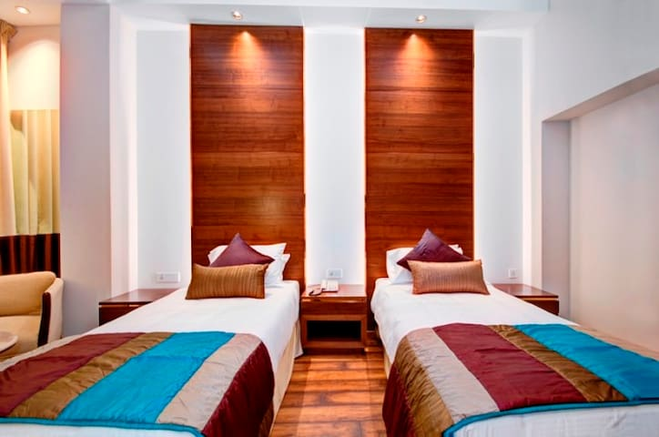 Executive Room with Twin Beds in Central Delhi!