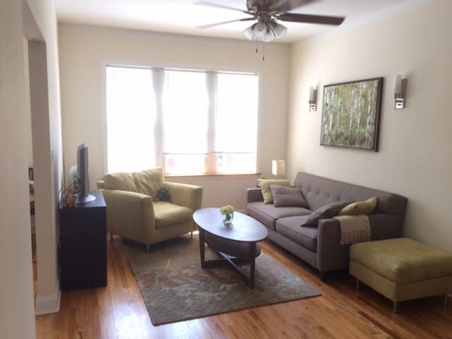 Sunny, quiet 1-bed near park and lake