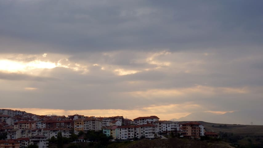 Sky view from the balcony