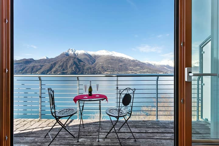 Newly built townhome w/ 180-degree views of Lake Como & shared pool!