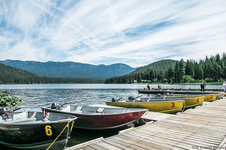 Get your fish on.  Head to the Cove at Fish Lake and rent a pontoon party barge or aluminum fishing boat for a reasonable hourly rate and get fishing.