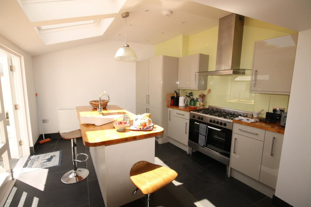 Our Large cooks Kitchen guests are welcome to be use this.