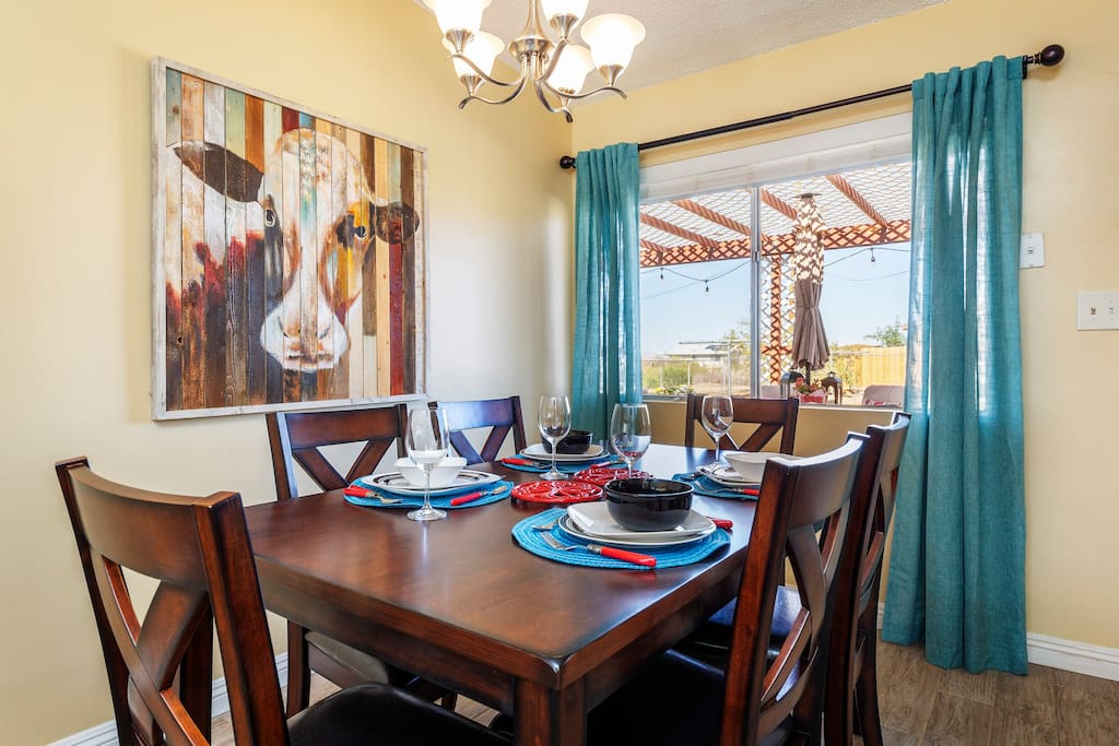 Dining area for family or friend dinner