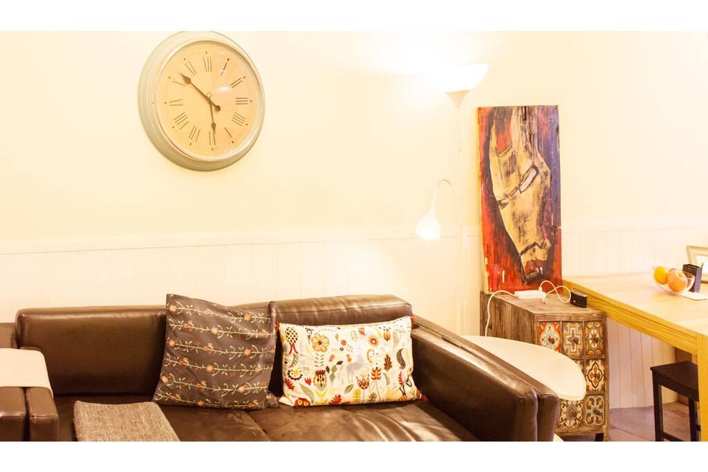 客厅沙发,暖暖的,软软的,很舒服