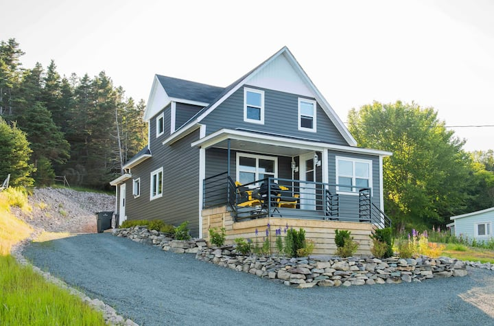 Ocean front home in traditional NL Community