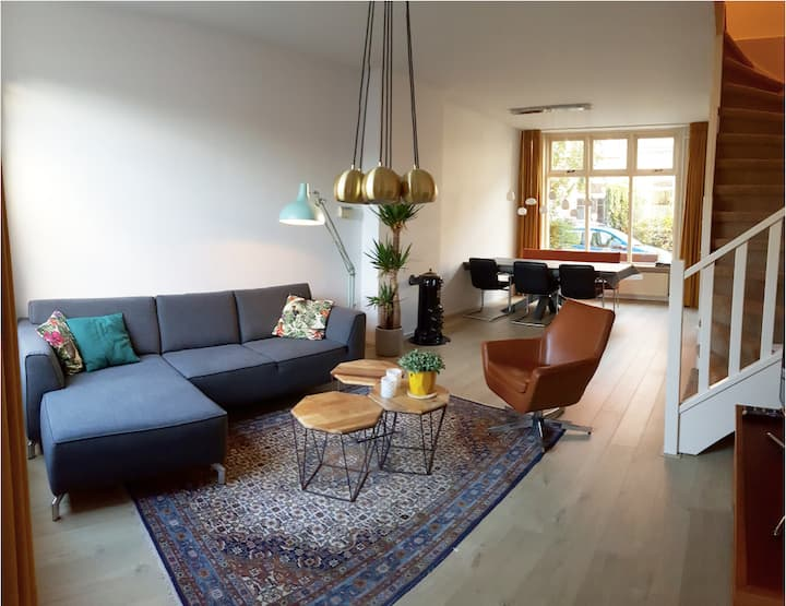 Spacious, light room in clean & cozy house