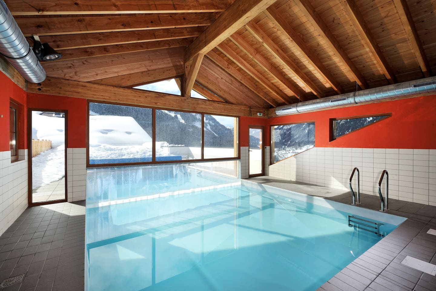 Dive into the gorgeous indoor/outdoor pool after a great day on the pistes.
