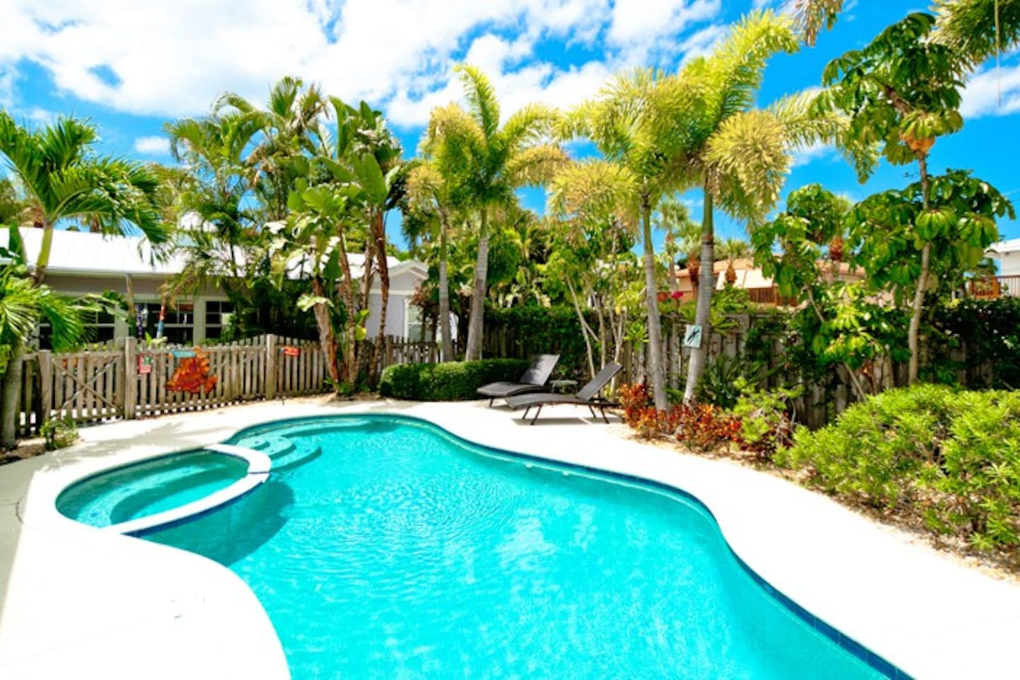 Spinnakers Vacation Cottages Pool area.  Enjoy the beautiful pool after a day at the beach!
