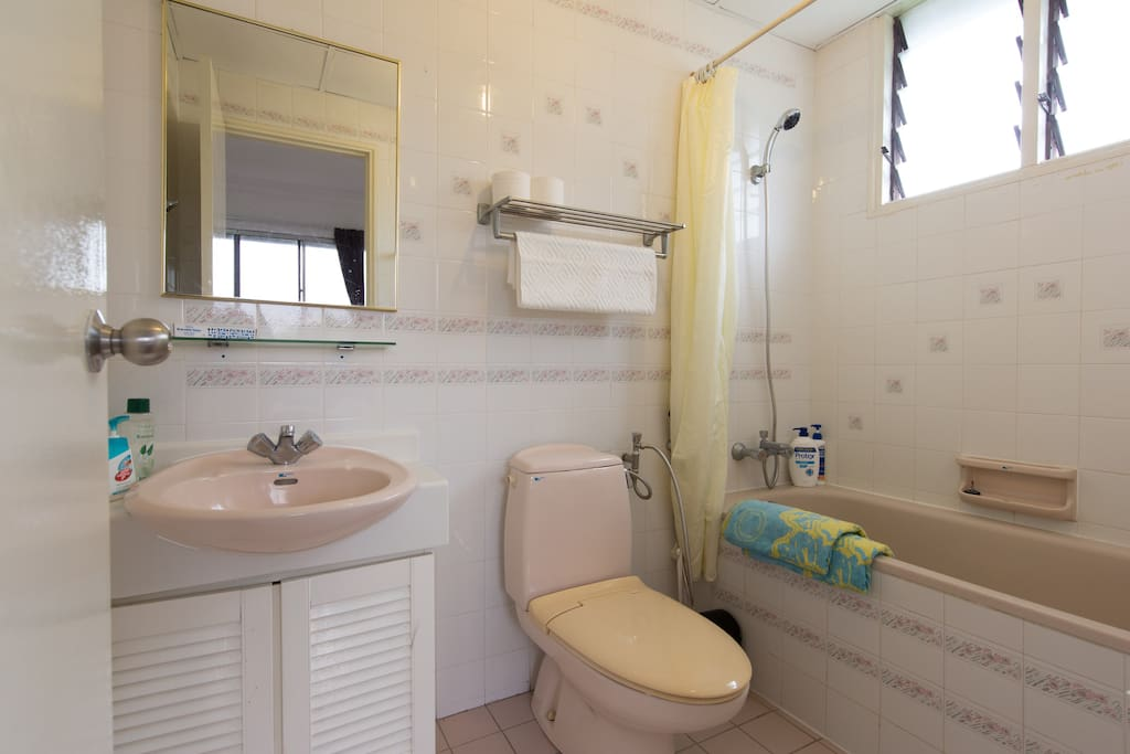 Functional bathroom with bathtub. Exclusive access from the master bedroom.