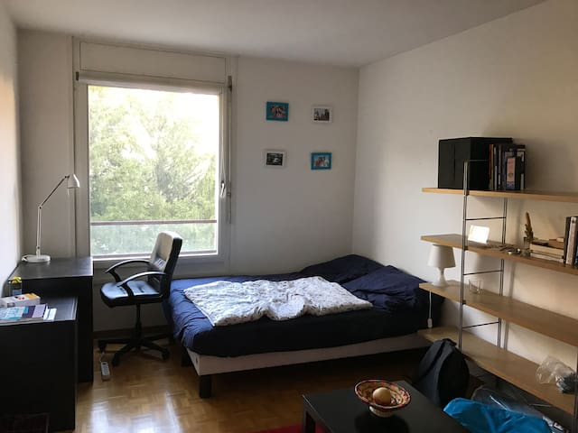 Beautiful bedroom near UN and train station - Genève - Appartement
