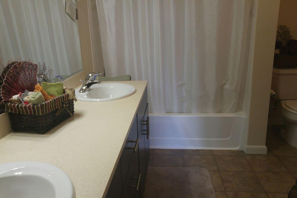 Large Double Sink Bath