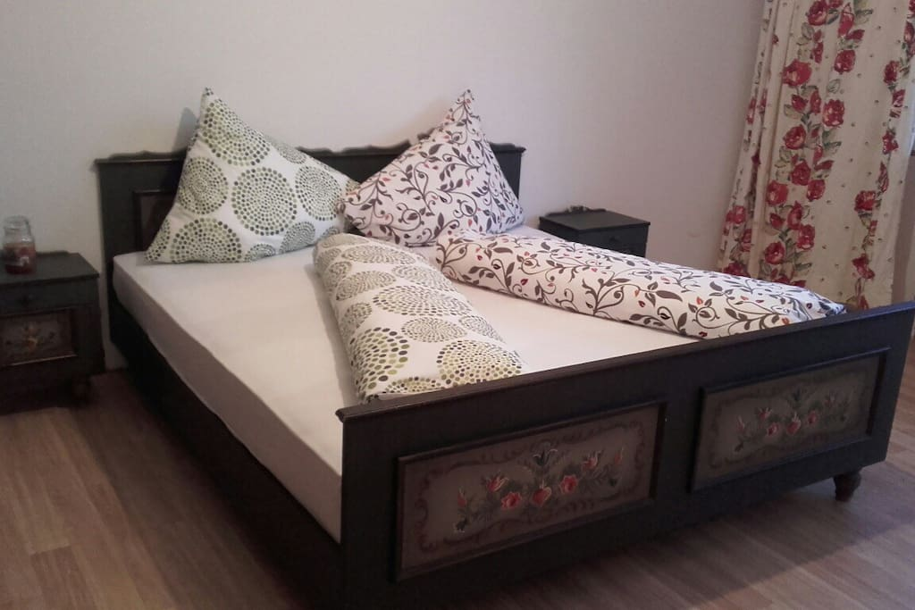 Steiermark style bed in the bedroom with very comfortable delux matresses