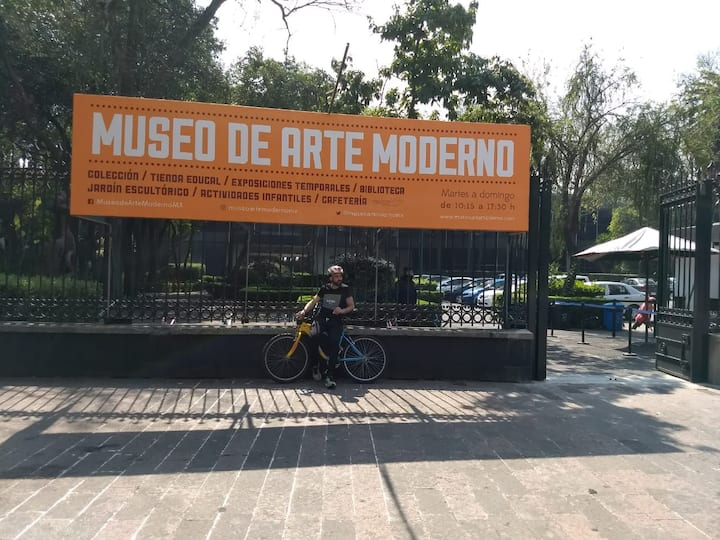 ENTRANCE TO THE MUSEUM OF MODERN ARTYS