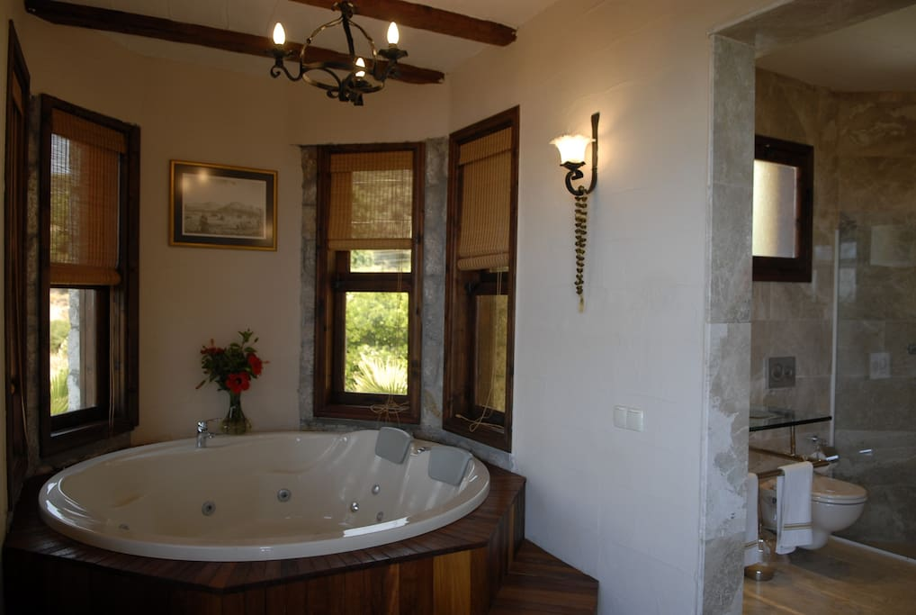 Double size Jacuzzi in each room