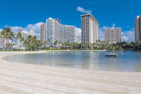 On the walk from Waikiki Beach, Ala Moana Shopping
