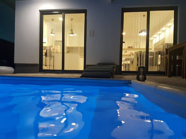 LUXURY apartment with private heated POOL