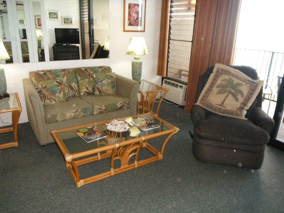 Love seat and recliner