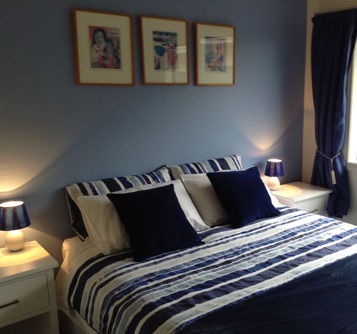Our serene and quiet blue room