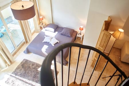 Appartement style loft dans maison bourgeoise - Nissan-lez-Enserune - Apartment