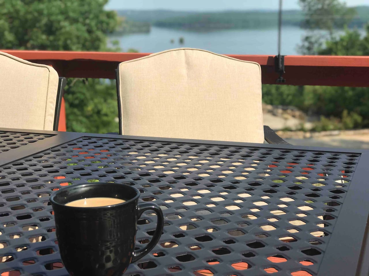 Million dollar view of Lake Norfork from the back deck. You'll be thinking about this morning coffee backdrop for weeks!