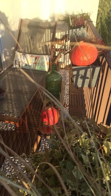 Balcon en automne