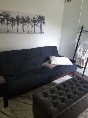 Futon in second bedroom