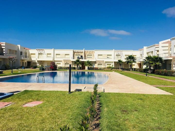 Vacance Savana beach Sidi Rahal Plage et piscine
