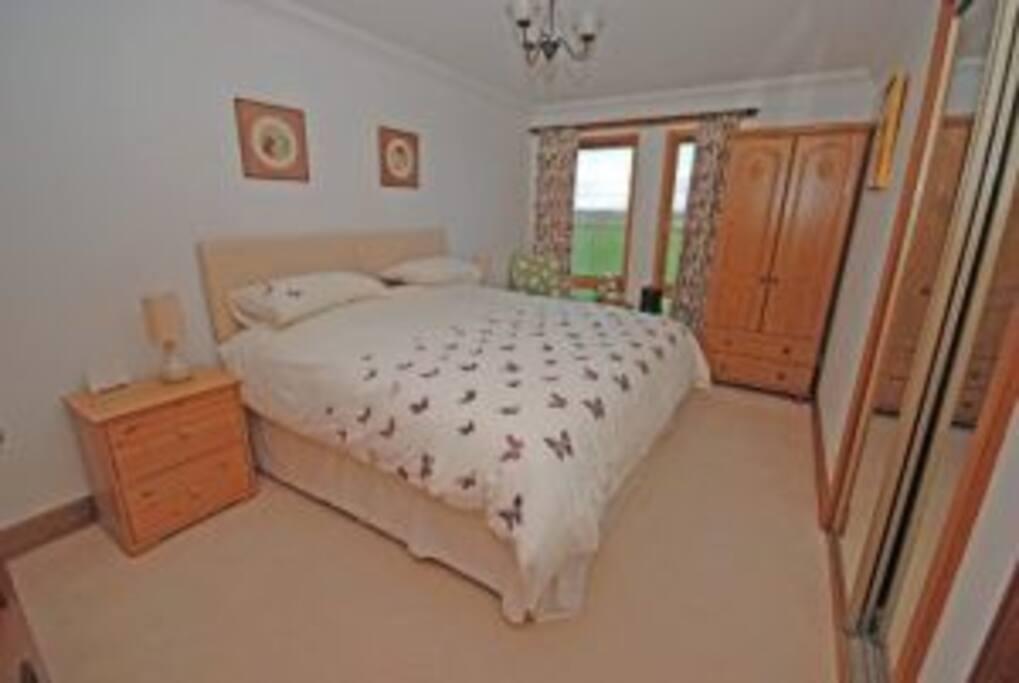 Zip link bed in main bedroom