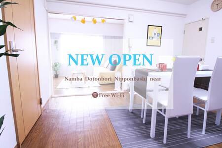 Sta is 1min!!Dotonbori,Nanba Area!!Free Wi-Fi.1103 - Chūō-ku, Ōsaka-shi - อพาร์ทเมนท์