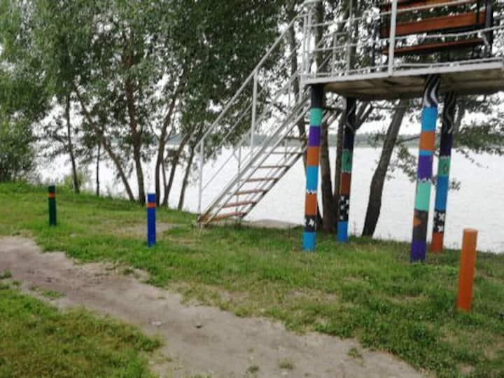 Отдых на Иртыше в в ближайшем пригороде