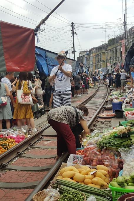 Amazing railway market