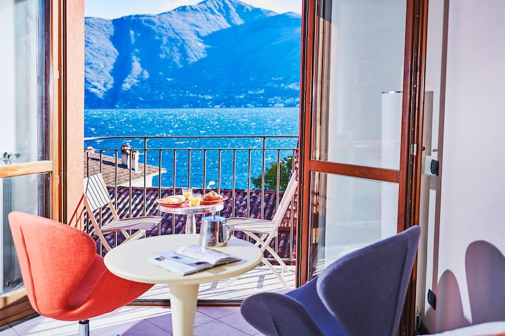 Romantic Lake View Apartment Lake Como - Beach