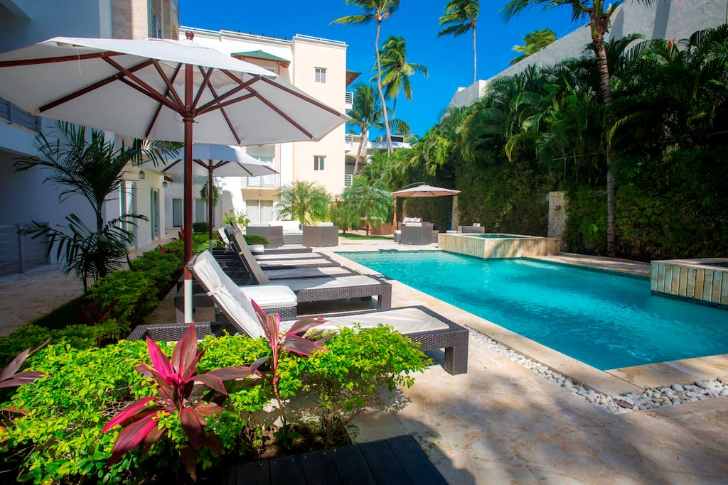 Spend a magic day near the ocean in Punta Cana, Bavaro. Beautiful grassy back yard where you can swim in the pool