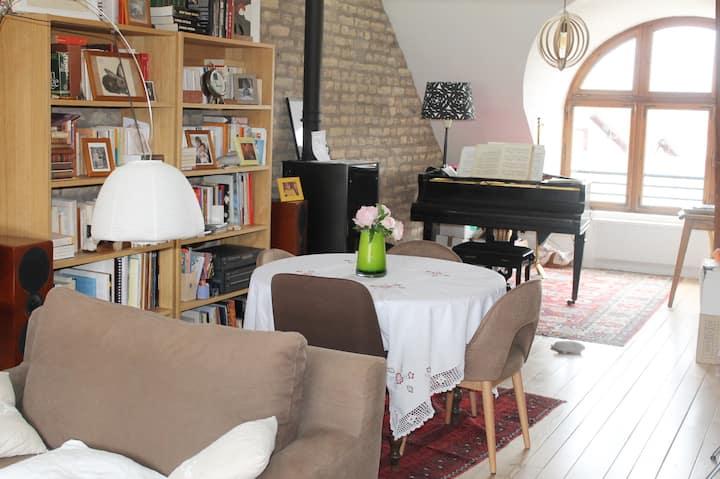 Stbg-Schiltigheim : beau loft, quartier historique