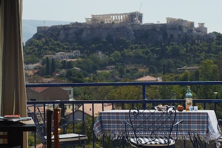 SUPER VIEW OF ACROPOLIS FROM MARTINE'S STUDIO - Atene