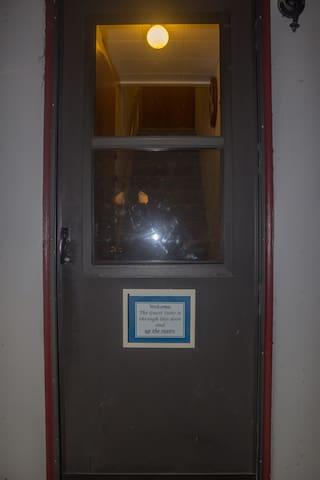 Door way to upstairs apartment