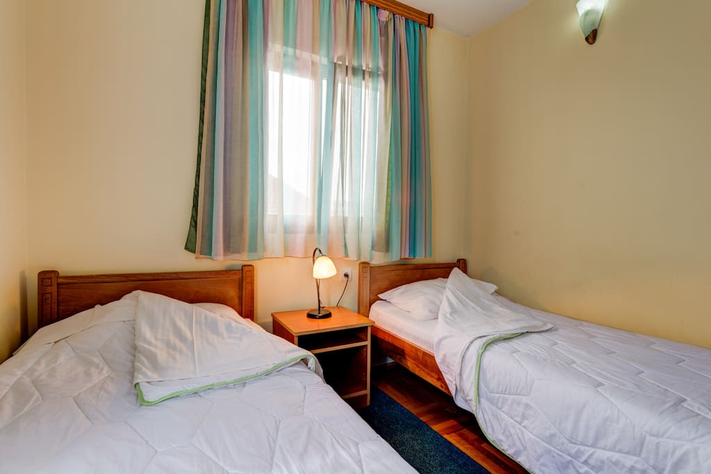 Single Beds in Double Room