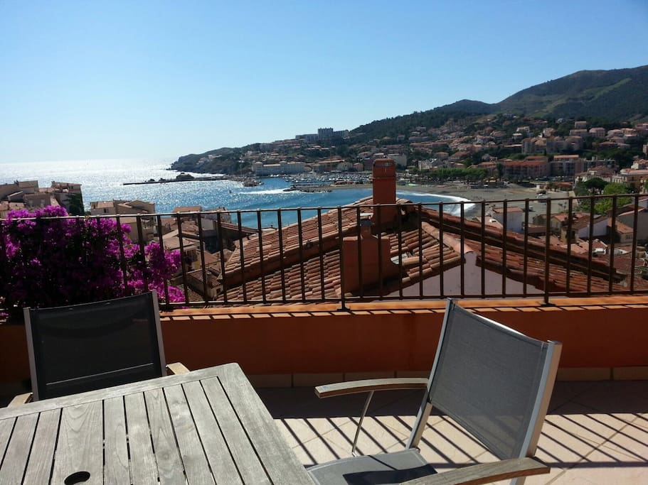 The beach and harbour of Banyuls sur Mer