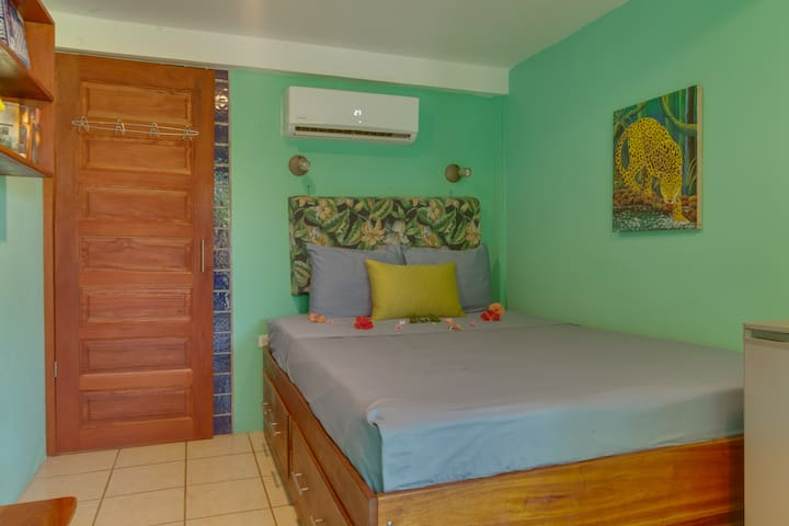 Garden Room-Queen bed, air con, wifi, bikes & pool