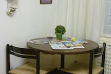 Writing table, in the laundry on the ground floor