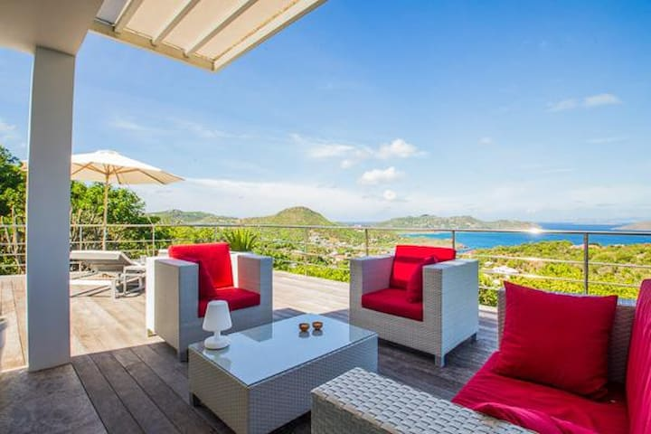 Villa WV AGV - Remarkable view of landscape and ocean beyond, contemporary living with spectacular sunsets - Saint-Barthélemy